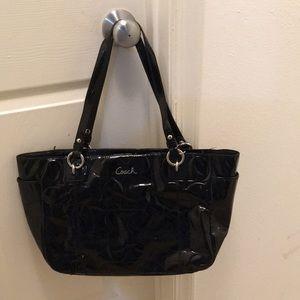 Coach Patent Embossed Signature Tote Bag